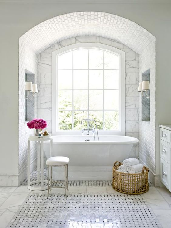 This marble subway tile dome is everything.