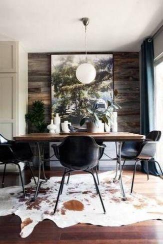 dining-room-cowhide
